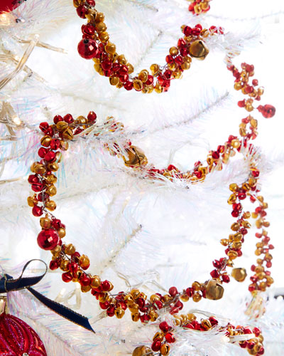 Gold & Red Mixed Small & Big Bells Garland