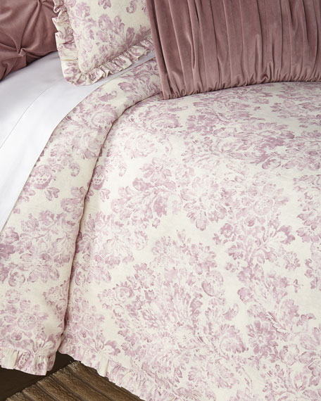 Sweet Dreams Iris King Duvet with Ruffle Flange