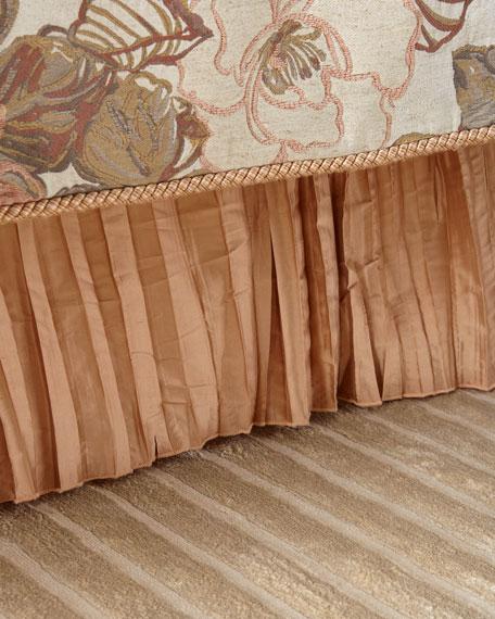 Austin Horn Classics Silk Pleated Queen Bed Skirt
