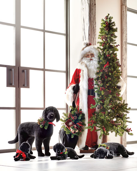 Ditz Designs By The Hen House Christmas Black Lab Puppy