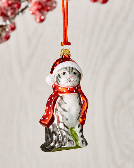 Cat with Scarf Ornament