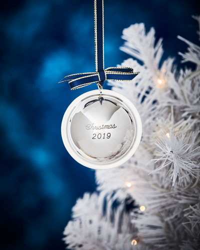 Sterling Silver 2019 Christmas Ball Ornament