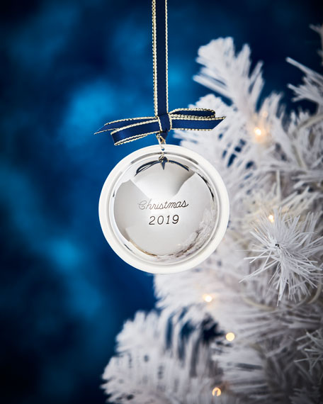 J T Inman Co Sterling Silver 2019 Christmas Ball Ornament