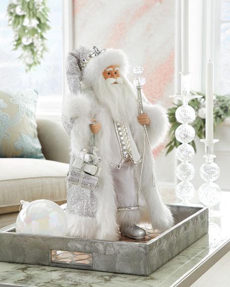"""Crystal Christmas Santa, 19"""""""