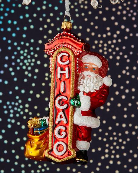 Chicago Santa Ornament
