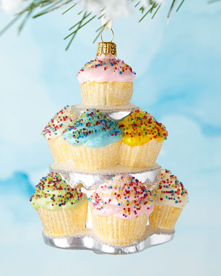 Cupcakes on Stand Ornament