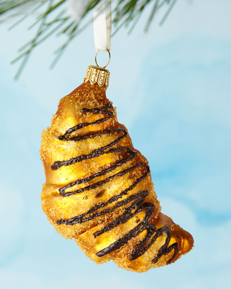Croissant Drizzled in Chocolate Ornament
