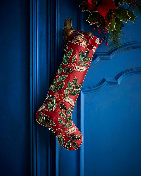 Kim Seybert Holiday Garland Stocking