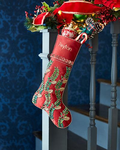 Holiday Vine Stocking