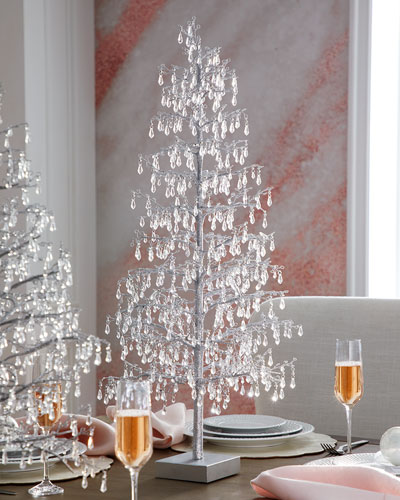 30 Clear Teardrop Beaded Tree