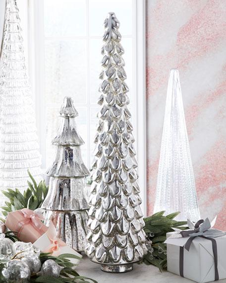 "31"" Silver Mercury Glass Tree"