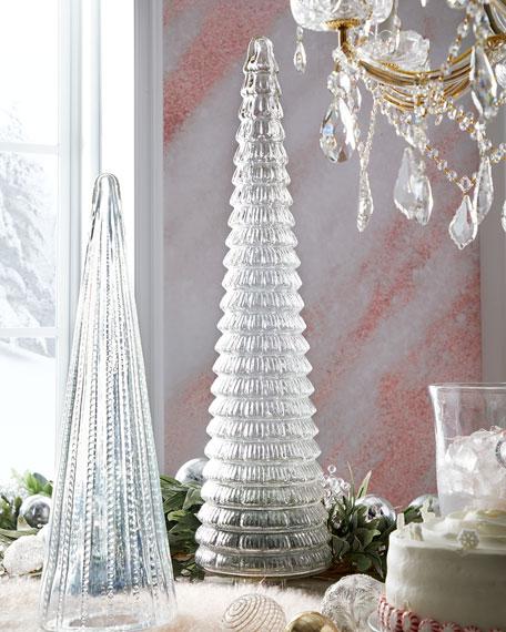 "36"" Clear Glass Tree"