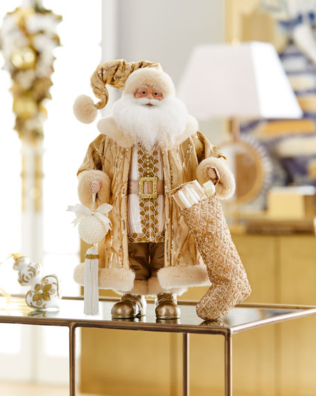 Gold Tabletop Santa