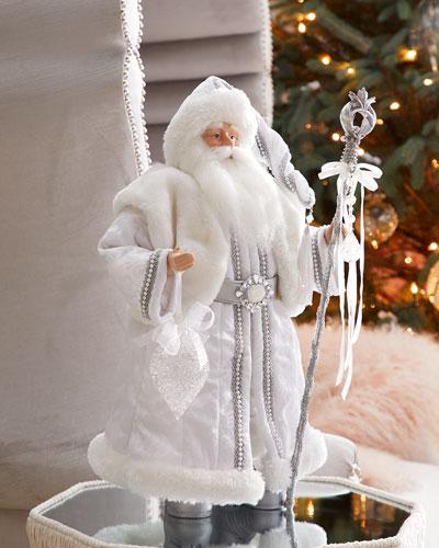 Crystal Tabletop Santa