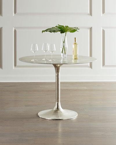 Joy Antiqued Nickel Bistro Table