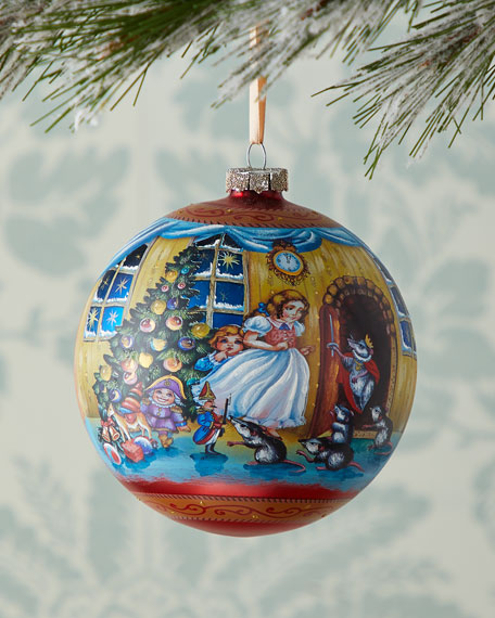 G. Debrekht Story of Clara and the Nutcracker Limited Edition Glass Ball