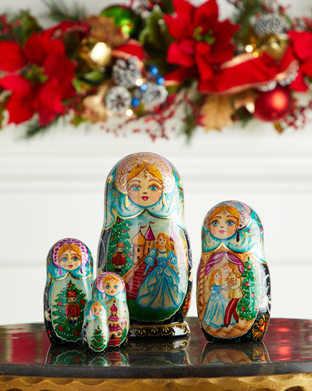 G. Debrekht Story of Nutcracker Nesting Dolls, Set of 5