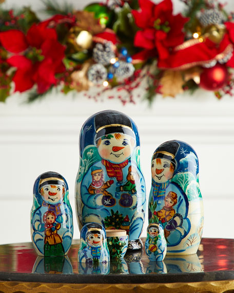 G. Debrekht Mr. Snowman Nesting Dolls, Set of 5