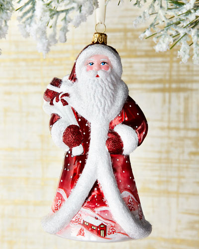 Village Santa Ornament