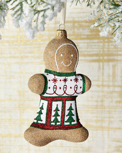 Spruce Gingerbread Boy Ornament