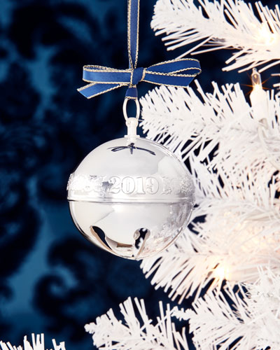 Silver Plated Sleigh Bell Christmas Ornament - 49th Edition