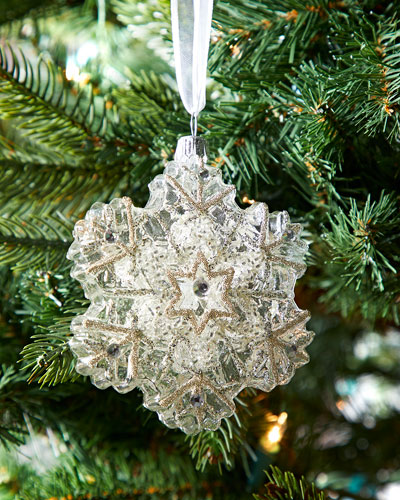 Clear Snowflake Christmas Ornament