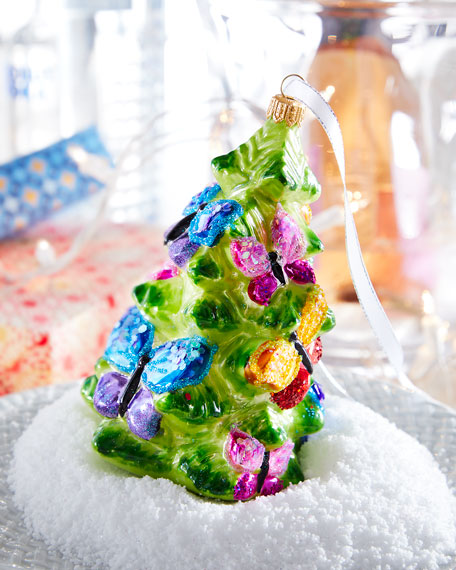 Butterfly Tree Christmas Ornament