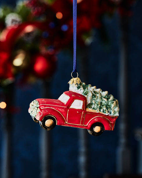 Truck With Tree Christmas Ornament