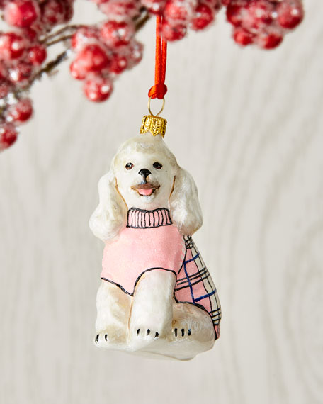 Joy To The World Collectibles Poodle Dog Christmas Ornament