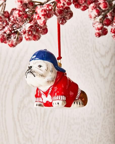 Joy To The World Collectibles Bulldog in Backwards Cap Ornament