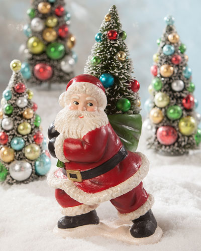Merry and Bright Santa with Tree