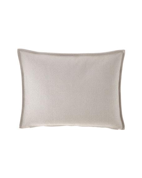 Fino Lino Linen & Lace Trackstar Silver Standard Sham