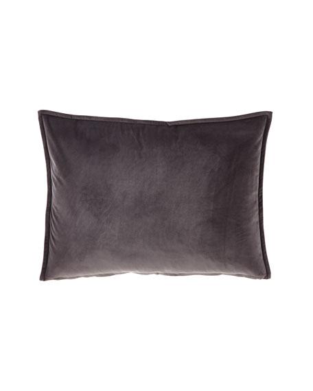 Fino Lino Linen & Lace Velvet Gray Standard Sham