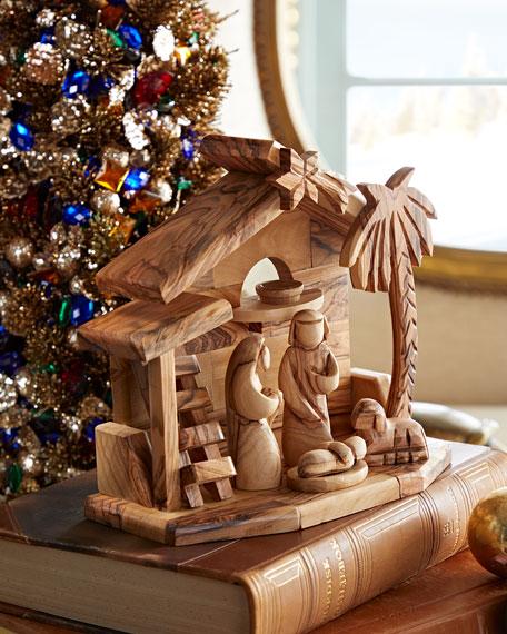Bethlehem Star Holy Family with Crib