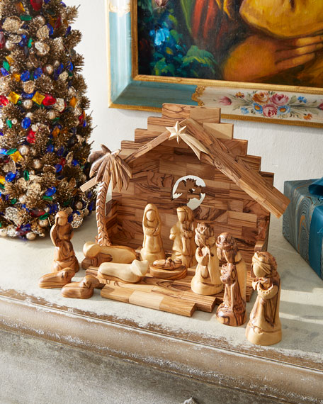 Bethlehem Star Nativity Set with Angel and Crib