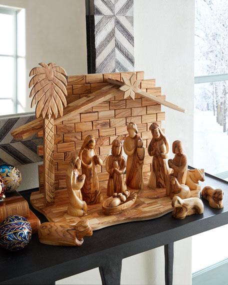 Bethlehem Star Large Nativity Set with Crib