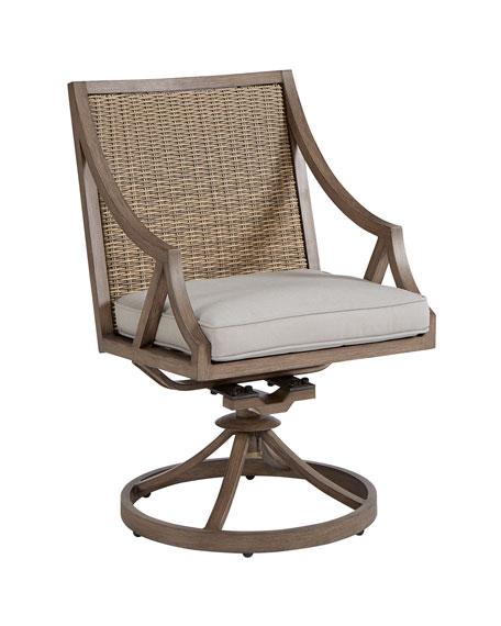 Summer Creek Outdoor Swivel Rocker Dining Chair