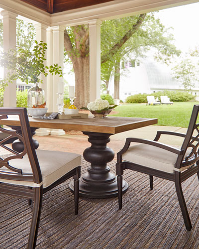 Morrissey Outdoor Phillips Dining Arm Chairs  Set of 2