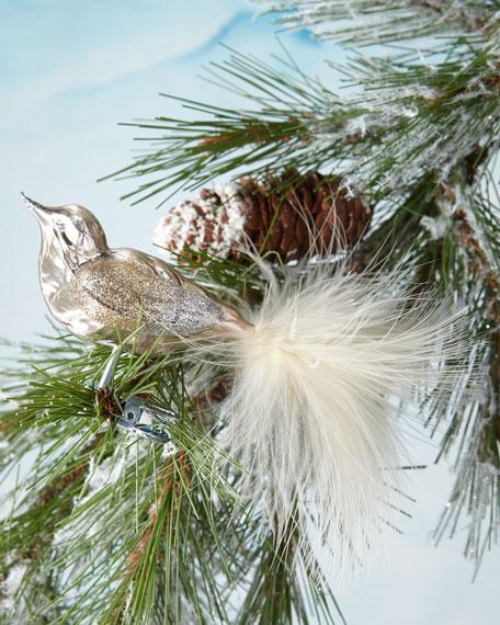 Metallic Brown Bird Clip Ornament
