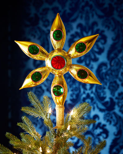 Large Gold Christmas Tree Topper