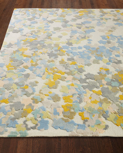 Flowers Hand-Tufted Rug  8' x 10'