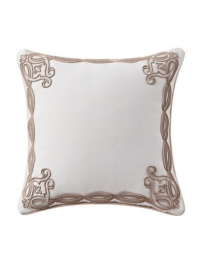 Belissa Embroidered Square Pillow