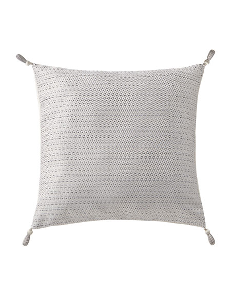 Waterford Aidan Square Pillow with Tassel Trim