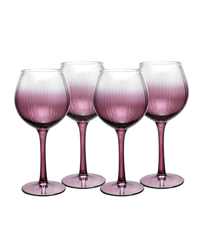 Kingsley Wine Glasses, Set of 4