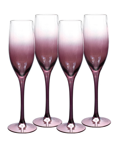 Kingsley Champagne Flutes, Set of 4