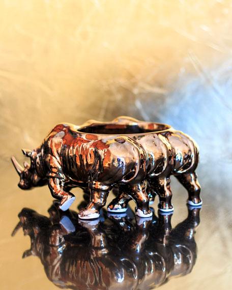 Rialheim Triple Rhino Bronze Bowl