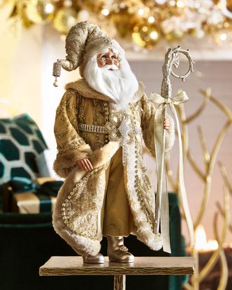 Karen Didion Originals Golden Shimmer Santa