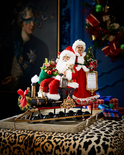 Lighted Mr. & Mrs. Claus Train