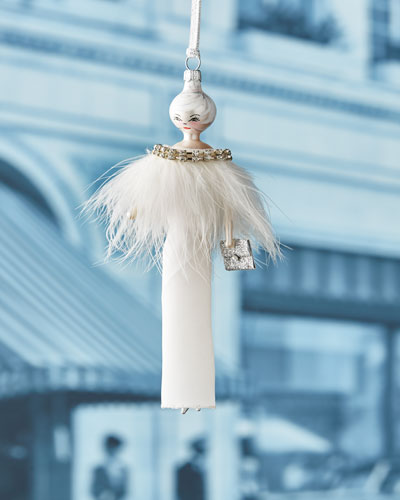 Camille White Gown Ornament