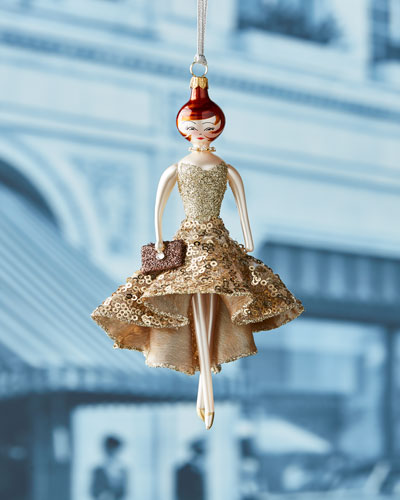 Samantha Gold Dress Ornament